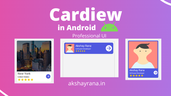 Cardview in android featured image