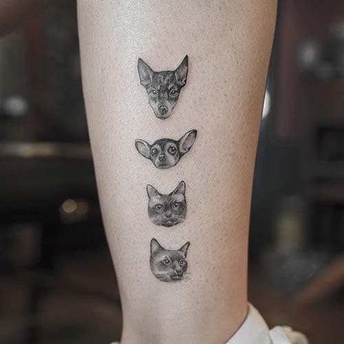 küçük kedi köpek dövmeleri small cat dog tattoos