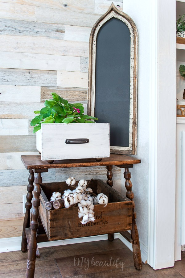 rustic home decor vignette