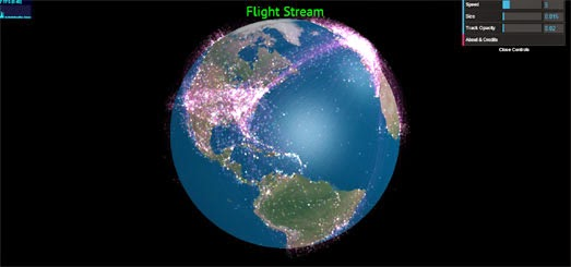 Maps Mania Animated Flights on 3d Globes - animated maps