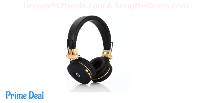 69% off  Bluetooth Headset Extra Long Standby [Wireless Headset] for Outdoor/Sports/Game/Music High Fidelity, Active Noise Cancelling Headphones (Gold)