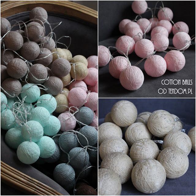 Cotton Balls - światełka na choinkę