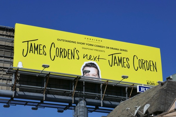 James Cordens Next 2018 Snapchat Emmy FYC billboard