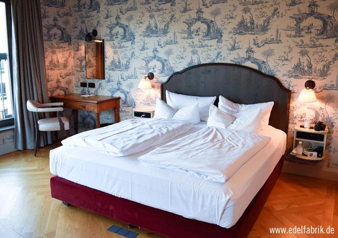 Gemütliche Betten im Monbijou Hotel