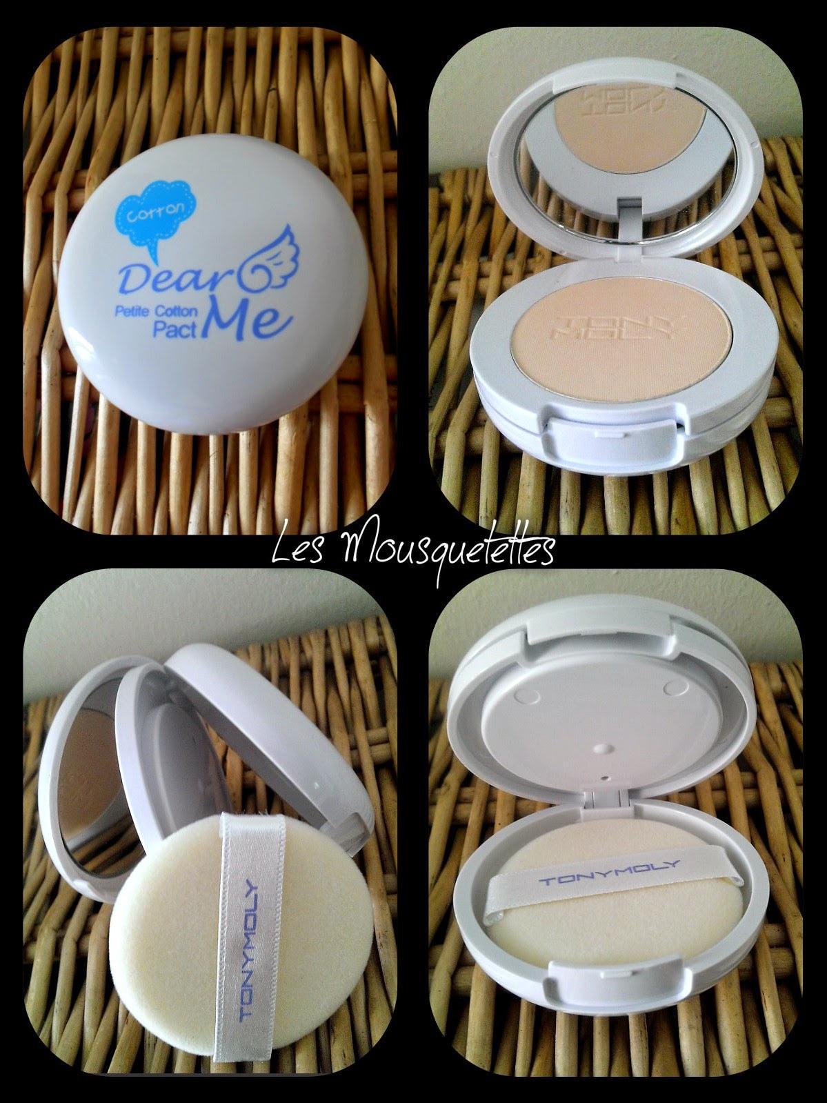 Dear Me Petite Cotton Pact Tony Moly - Les Mousquetettes©