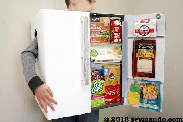 Sew Can Do Halloween Project Time Diy Refrigerator Costume