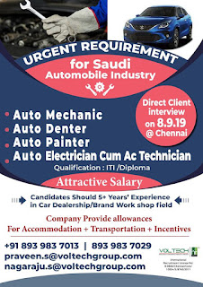 Automobile Industry requirement in Saudi Arabia