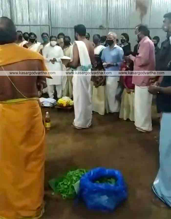 Annapoorneshwari temple construction begins