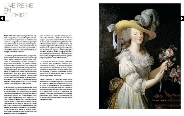 """Extrait du livre """"Paris Figure de Mode"""" (Marie-Antoinette par Vigée-Lebrun)"""