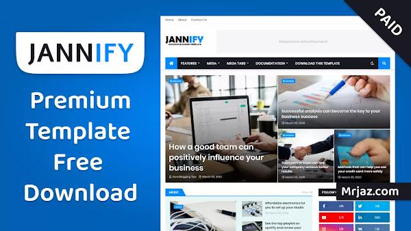 [Paid] Jannify Premium Blogger Template Free Download • Jannify v1.0 Advance Blogger Template