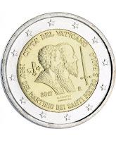 vatikaani 2 euroa kolikko marttyyrikuolemat 2017