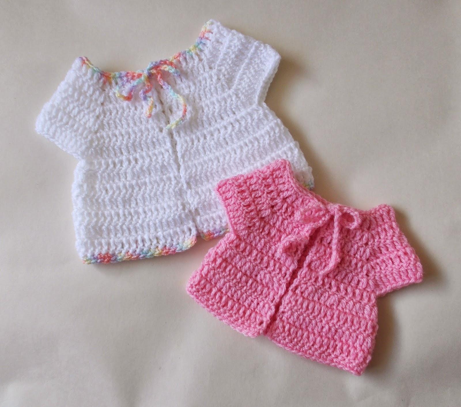 mariannas lazy daisy days: Premature Baby Crochet Baby Jacket