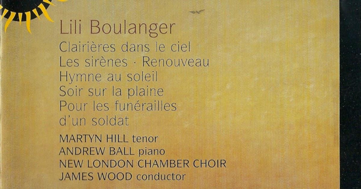 Kammermusikkammer Lili Boulanger Clairieres Dans Le Ciel