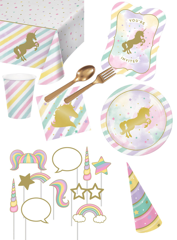 Anniversaire Licorne Rainbow Pastel