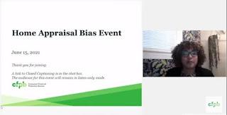 home appraisal bias event, consumer finance protection bureau, hud, mary cummins, fha, real estate appraisal, discrimination