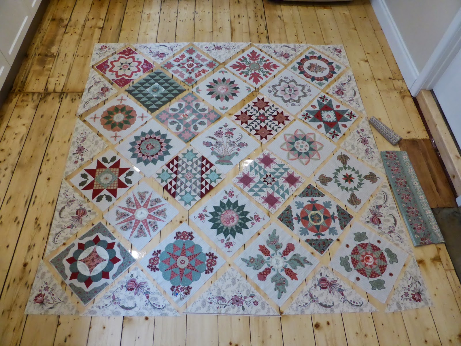 Antique Wedding Sampler (re-visited) quilt Di Ford