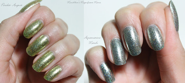 KBShimmer Birthstone Collection Peridot and Aquamarine