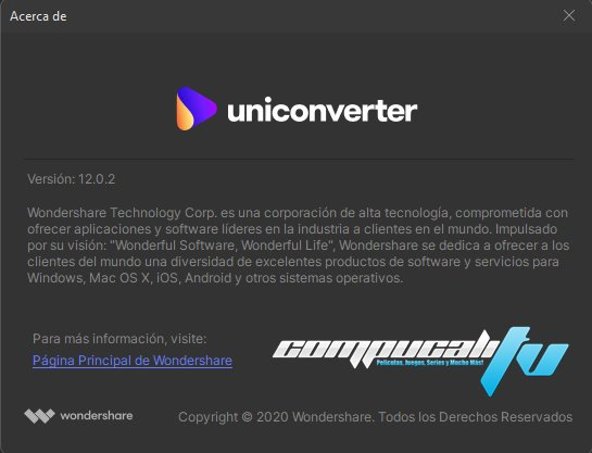 Wondershare UniConverter Versión Full Español