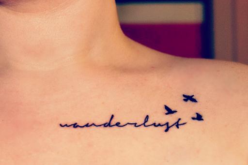 Wanderlust Clavícula Tatuagem