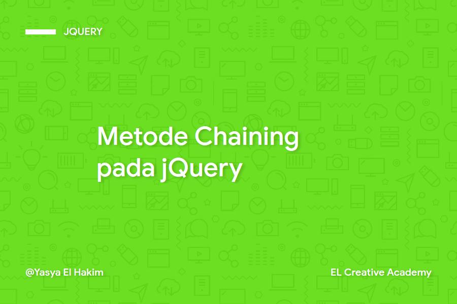 Metode Chaining pada jQuery