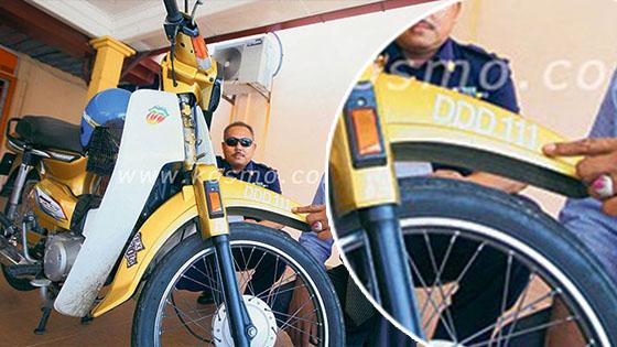 HONDA EX5 Plat Pendaftaran DDD111 Tumpas
