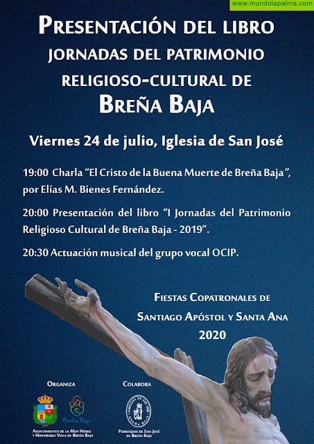 SANTA ANA: se presenta el libro de la Primera Jornadas del Patrimonio Religioso-Cultural de Breña Baja 2019