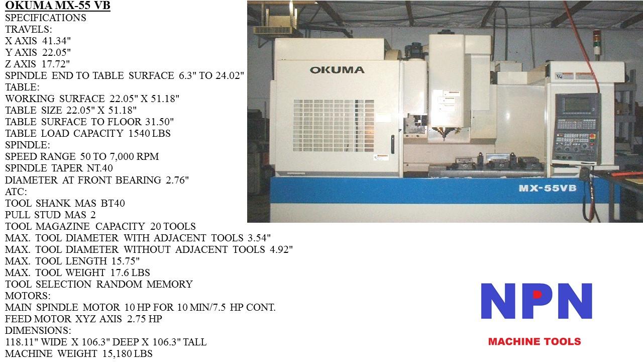 Okuma machine Manual