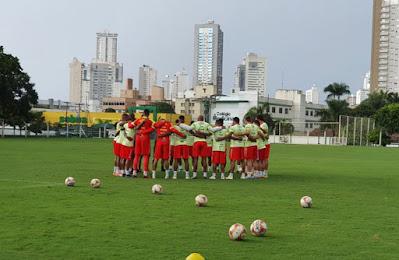 Brusque encerrou em Goiânia a preparação para a decisão contra o Vila Nova