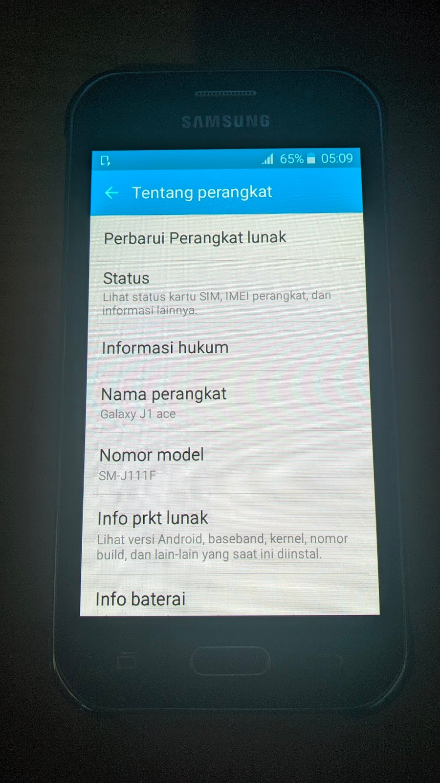 Pola Pin Layar Locked FRP Google Account Samsung J1 Ace