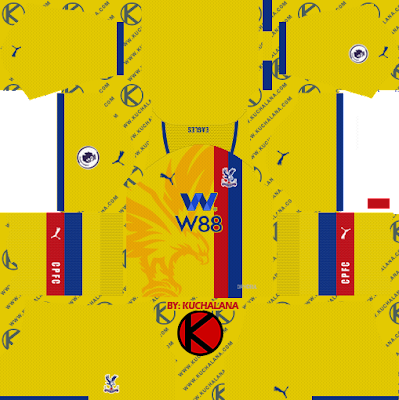 Crystal Palace F.C. 2021/22 Kit - DLS2019 Kits