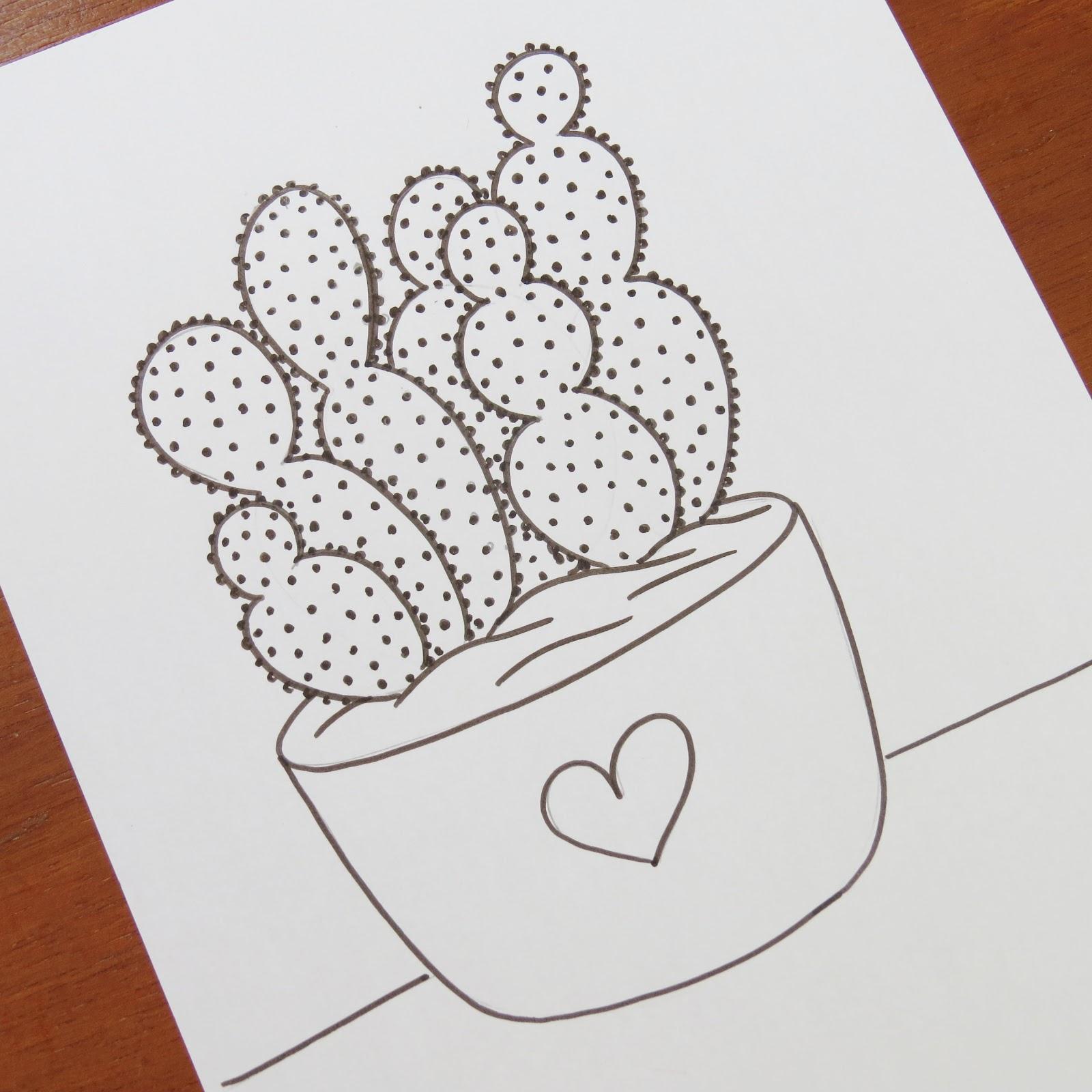 Artes Mariana Santos Desenho De Cactos
