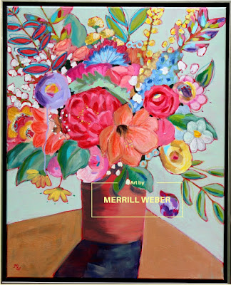 Dazzle Me Large Mixed Media Painting by Pennsylvania Artist Merrill Weber