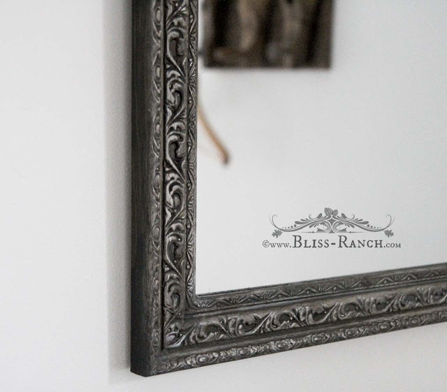 Thrift Store Decor Painted Mirror Fusion Gilding Paste, Bliss-Ranch.com