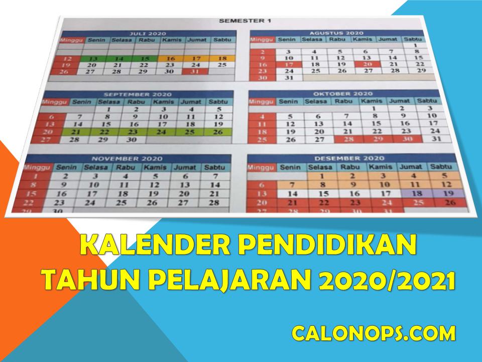 Kalender Pendidikan Tahun Pelajaran 2020 2021 Seluruh Provinsi Di Indonesia
