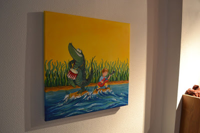 décoration de chambre illustration enfant crocodile peinture