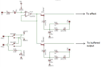 JFET switching schematic circuit