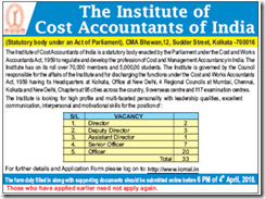 ICAI Recruitment