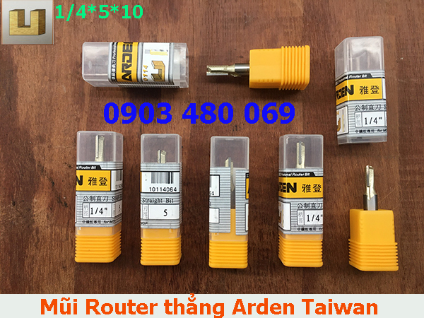 Mũi Router thẳng Arden 1/4*5*10