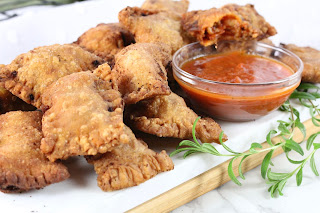 Fried Flat Bread Pizza Rolls