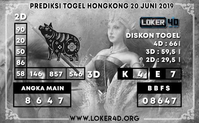 PREDIKSI TOGEL HONGKONG LOKER4D 20 JUNI 2019