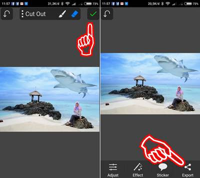 Langkah mudah Edit Foto Up and Up di android 6
