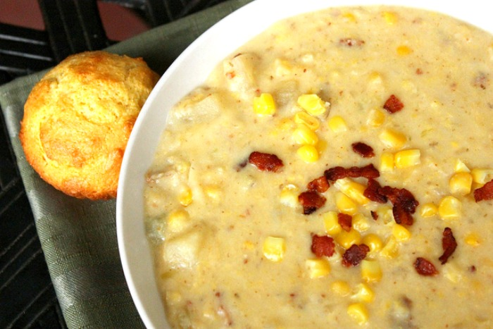 Chowder recipe with corn and potatoes