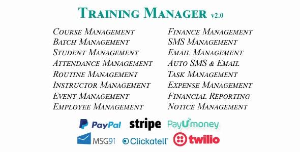 Training Manager v2.0 - Ultimate Training / Coaching / Learning Center Management System
