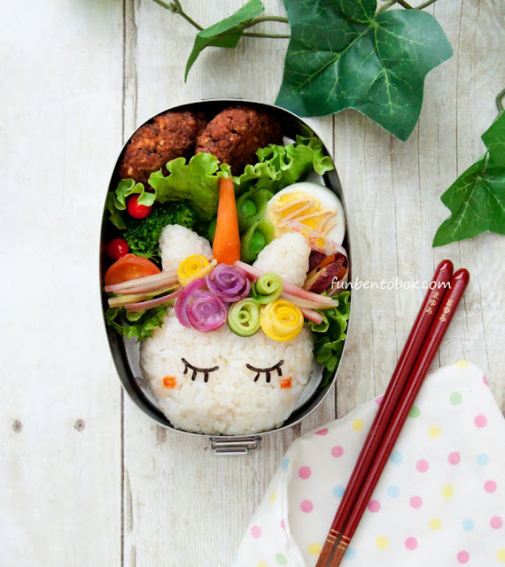 unicorn vegetarian bento