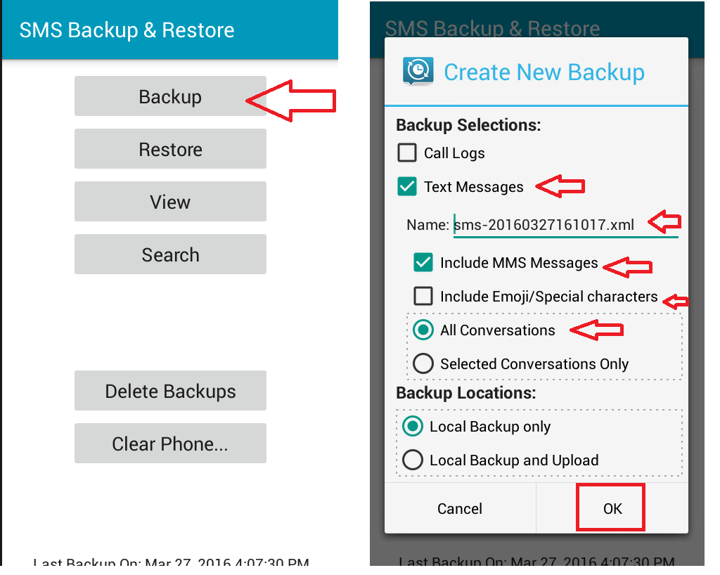 Phone Android Phone Sms Backup learn new things how to backup restore transfer sms in android phone tablethow restore
