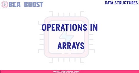 Operations in Arrays