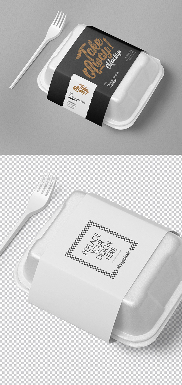 Download Free Disposable Food Packaging Mockup | Freebies PSD
