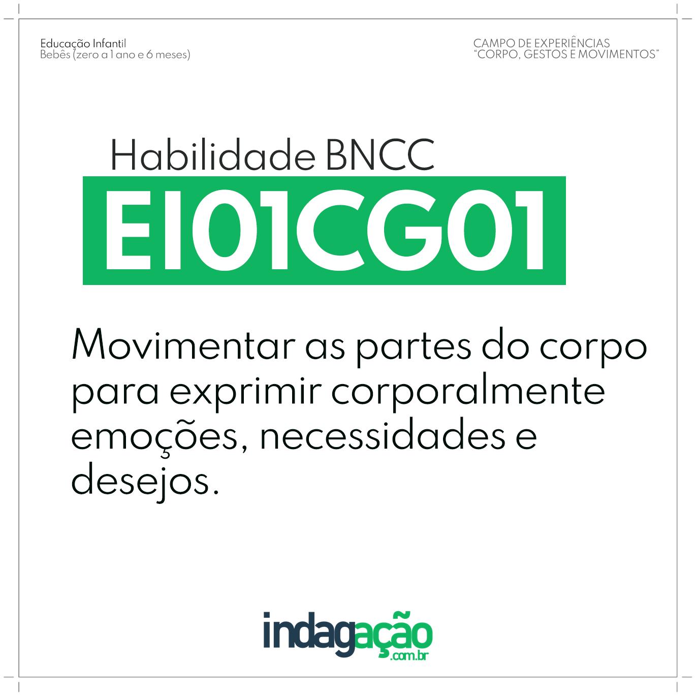 Habilidade EI01CG01 BNCC