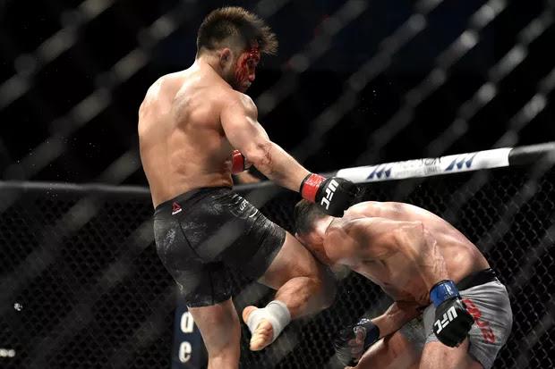 Henry Cejudo Knees Dominick Cruz UFC 249