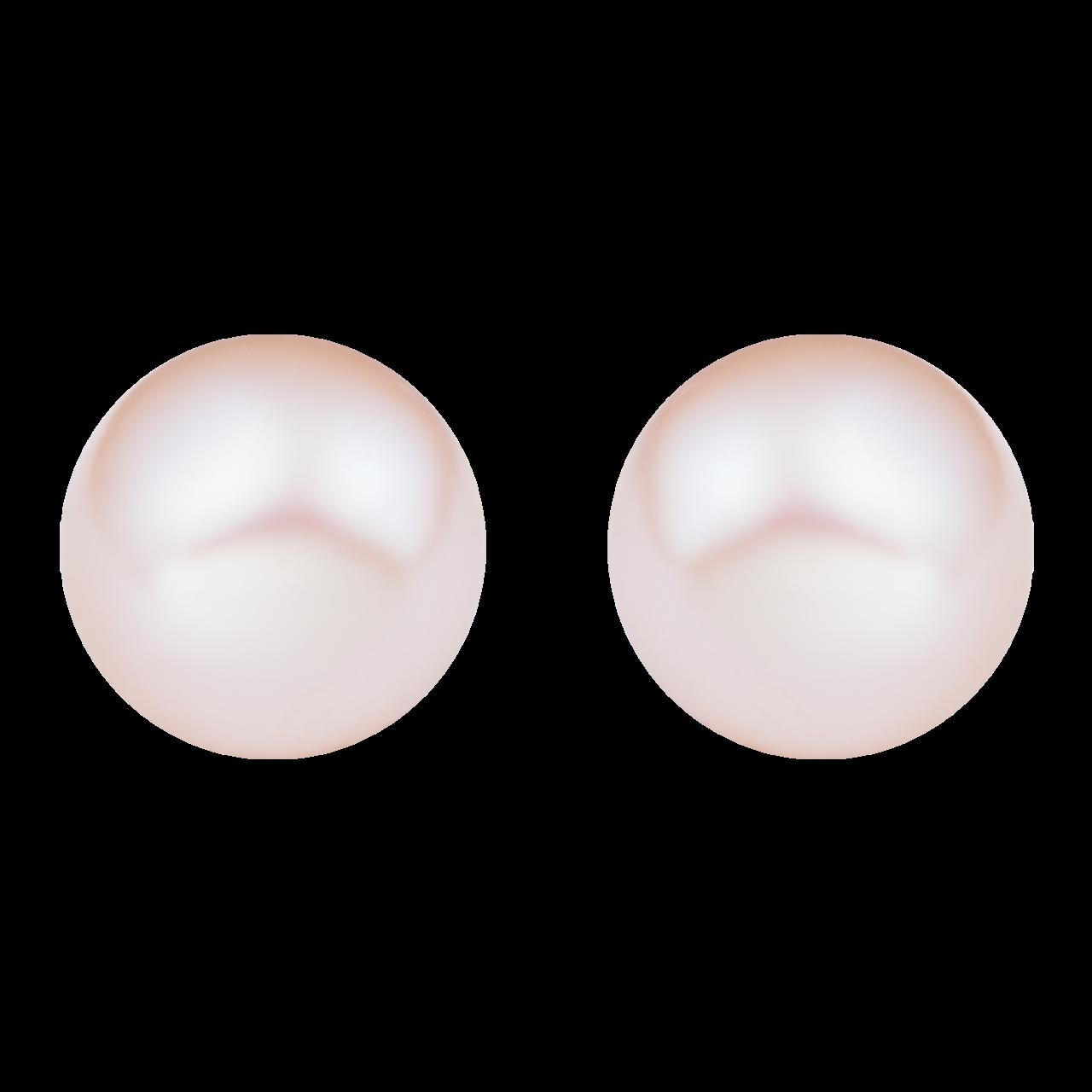 Bông tai bạc đính ngọc trai 4 ly PNJSilver PF00K000012